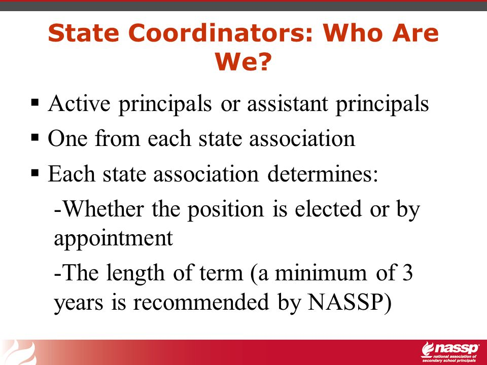 State Coordinators: What Do We Do.