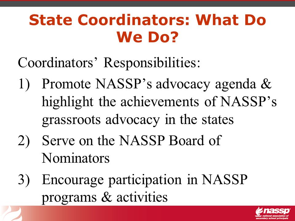 State Coordinators: What Do We Do in Advocacy.