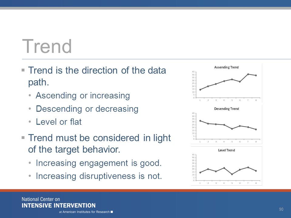 Trend  Trend is the direction of the data path.