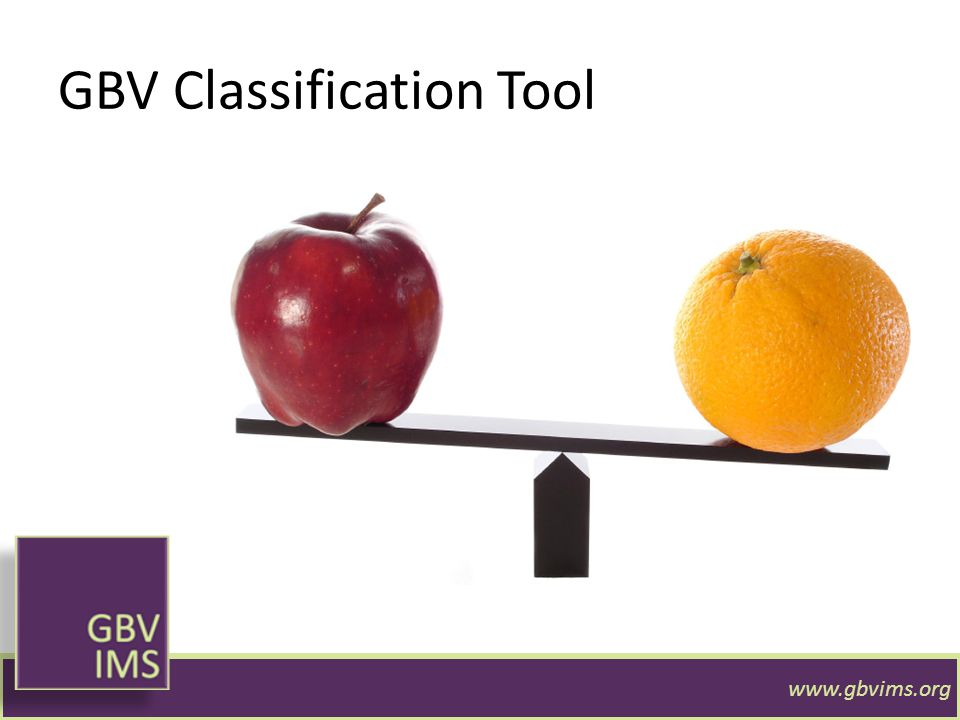 GBV Classification Tool www.gbvims.org