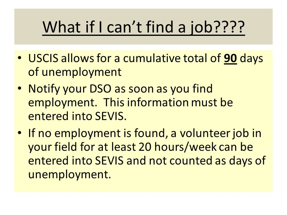 What if I can't find a job .