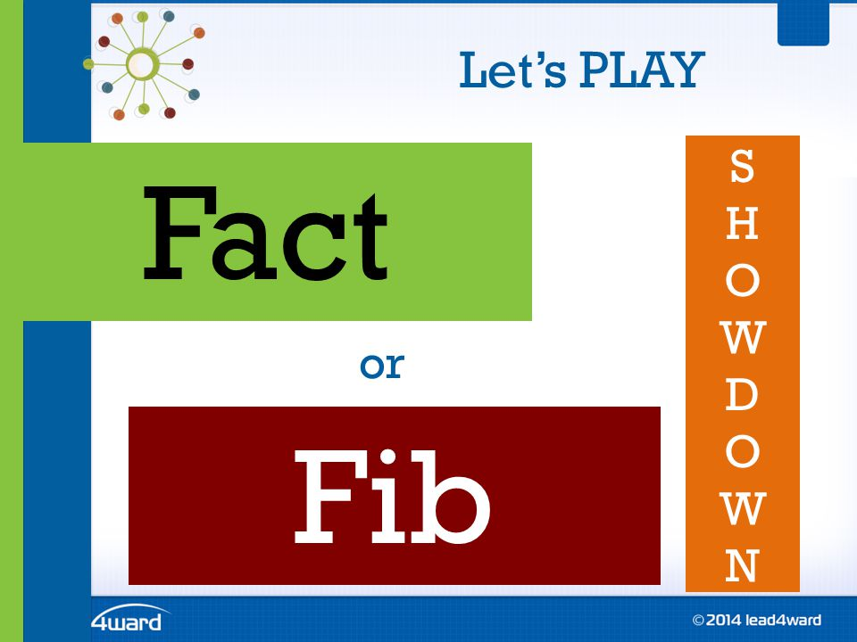 Let's PLAY Fact or Fib SHOWDOWNSHOWDOWN