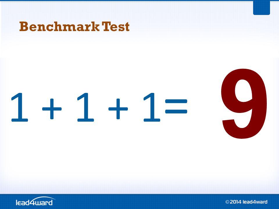 1 + 1 + 1 = 9 Benchmark Test