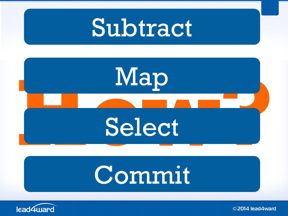 How Subtract Map Select Commit
