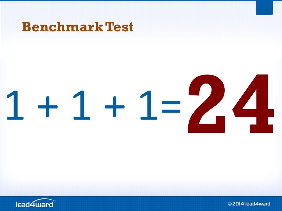 1 + 1 + 1= 24 Benchmark Test