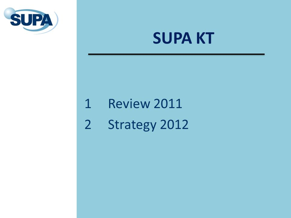 SUPA KT 1Review 2011 2Strategy 2012