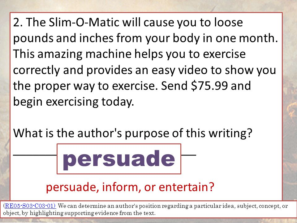 2. The Slim-O-Matic will cause you to loose pounds and inches from your body in one month.