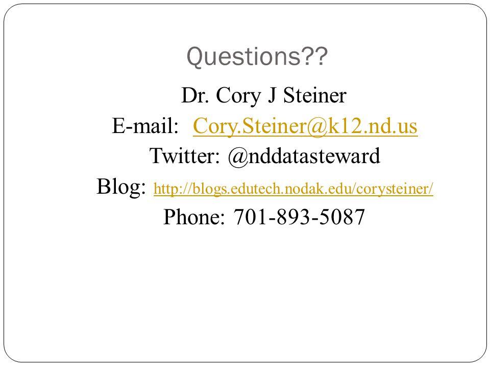 Questions?. Dr.