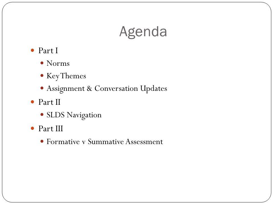 Agenda Part IV Continuous Improvement Model Part V Conclusion