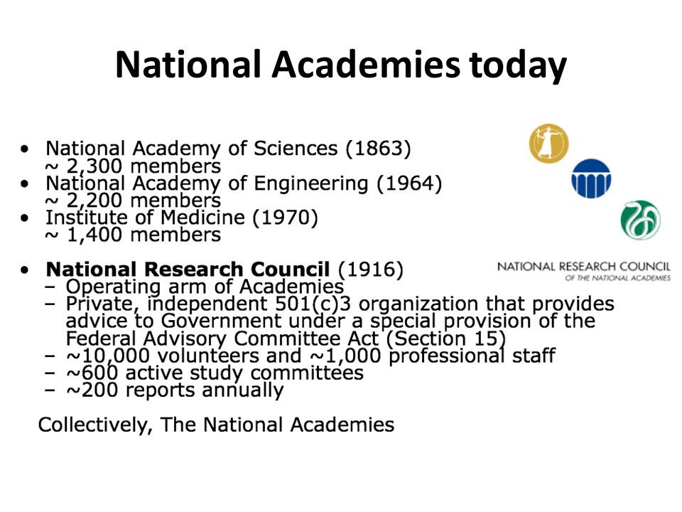 National Academies today