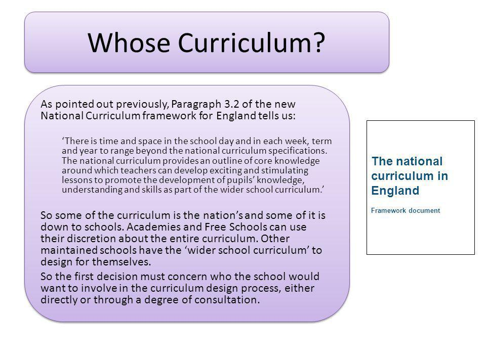 Whose Curriculum.
