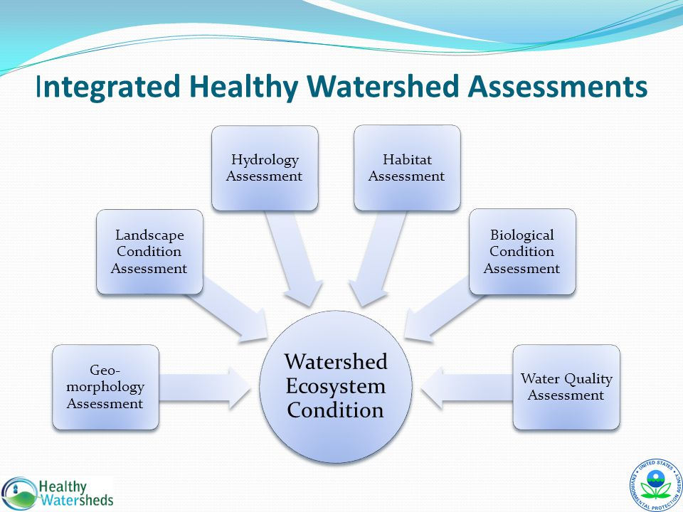 Integrated Healthy Watershed Assessments Watershed Ecosystem Condition Geo- morphology Assessment Landscape Condition Assessment Hydrology Assessment