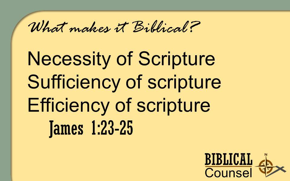 BIBLICAL Counsel ing What makes it Biblical.