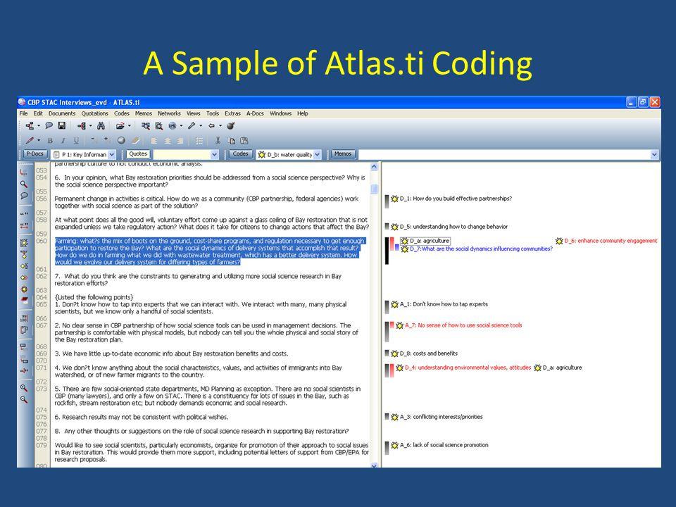 A Sample of Atlas.ti Coding