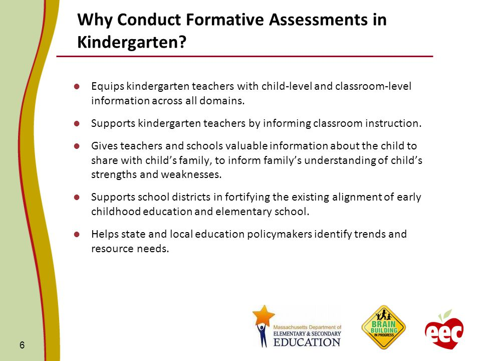 Why Conduct Formative Assessments in Kindergarten.