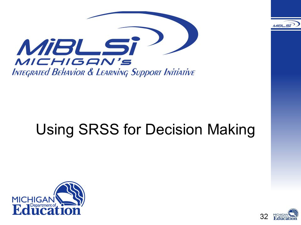 32 Using SRSS for Decision Making