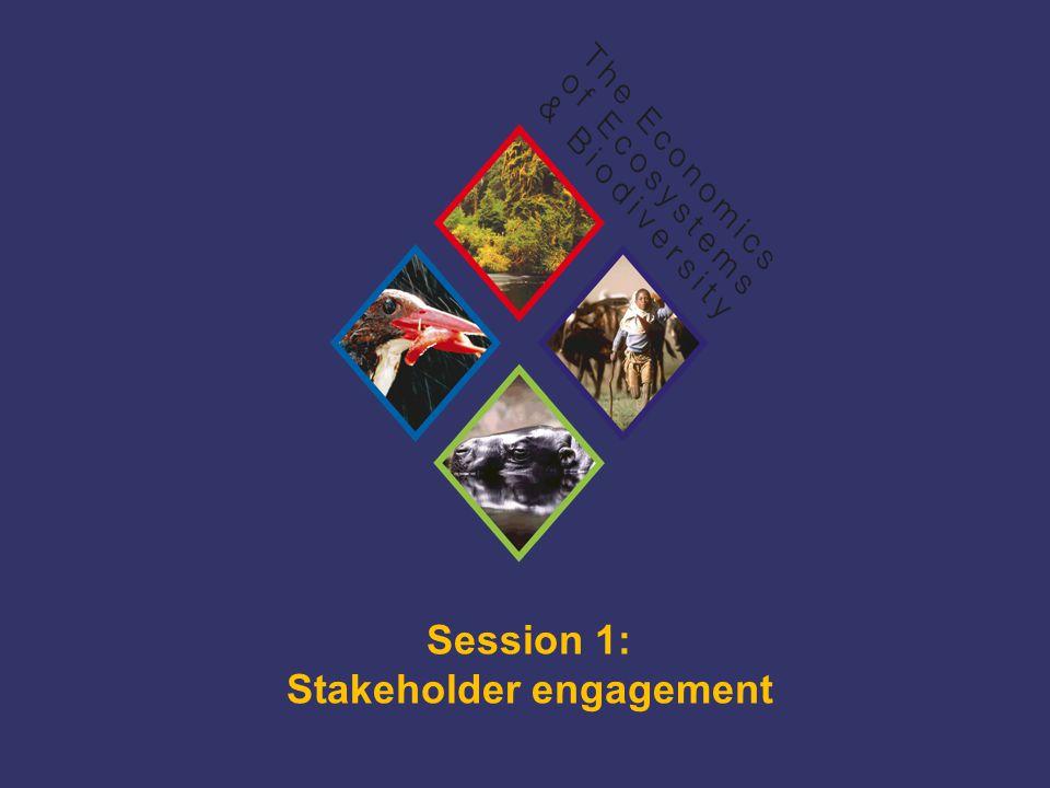 TEEB Training Session 1: Stakeholder engagement