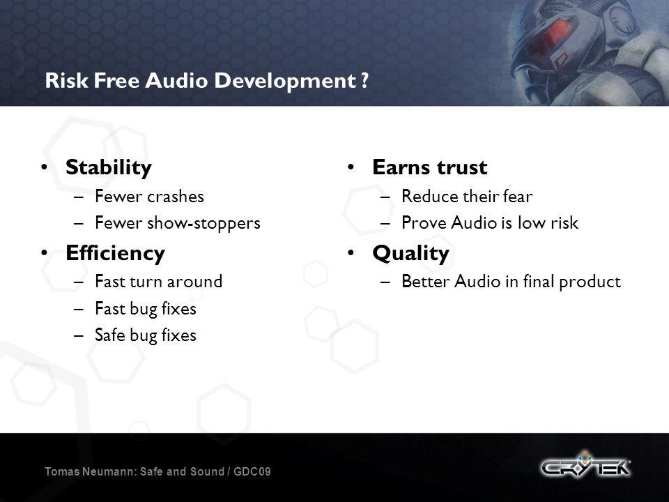 Risk Free Audio Development .