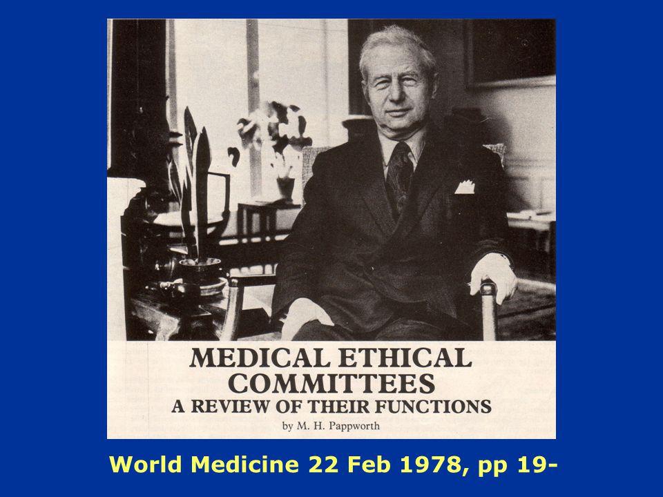 World Medicine 22 Feb 1978, pp 19-