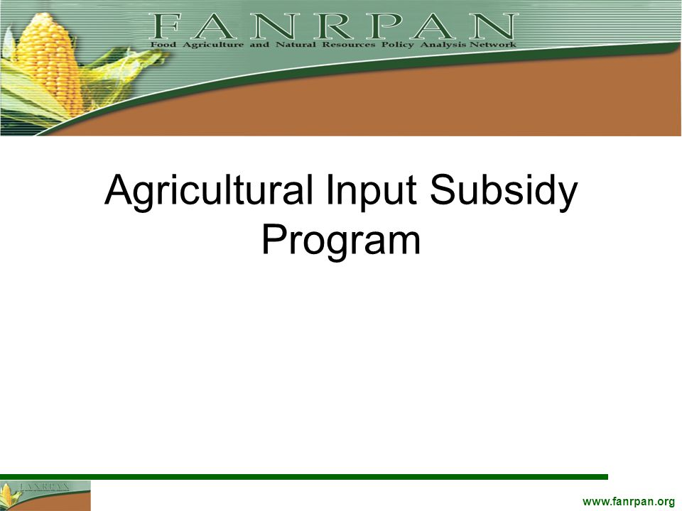 Agricultural Input Subsidy Program