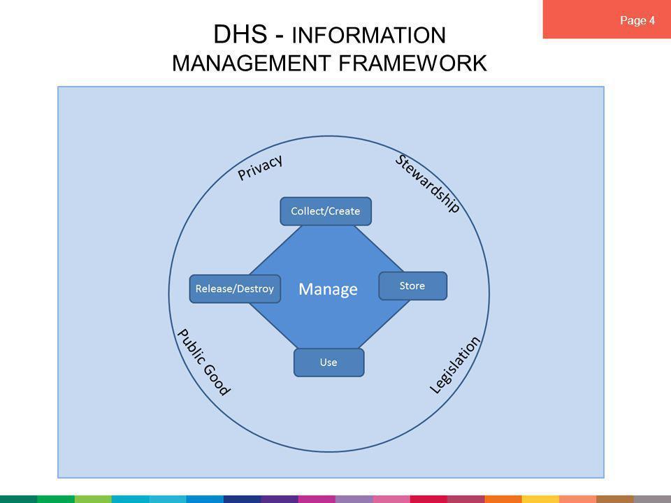 Page 4 DHS - INFORMATION MANAGEMENT FRAMEWORK