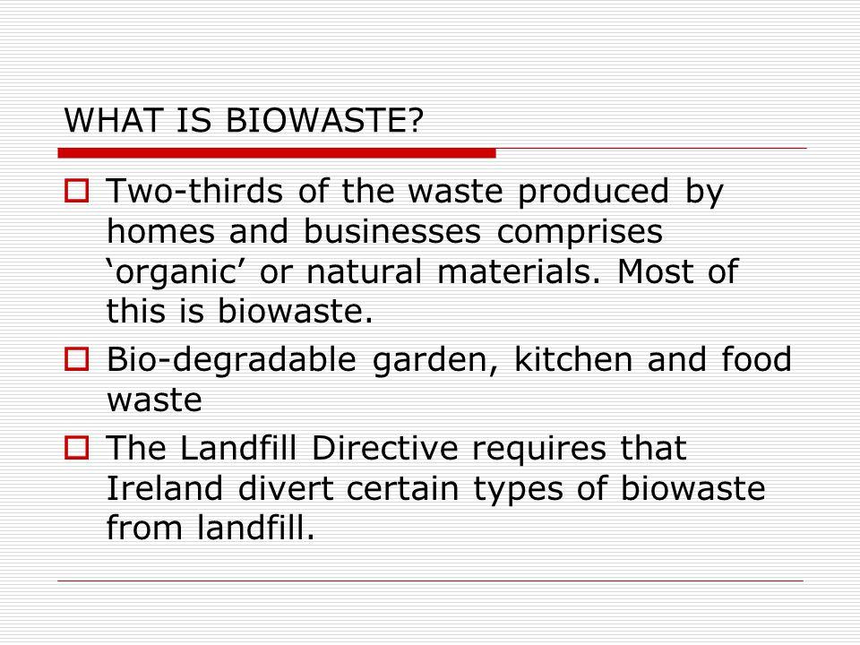 WHAT IS BIOWASTE.