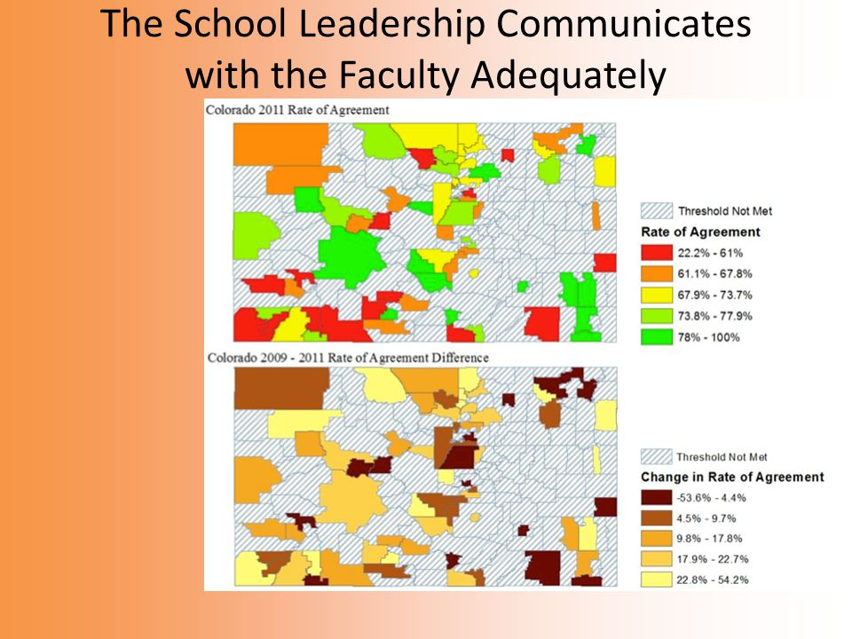 The School Leadership Communicates with the Faculty Adequately