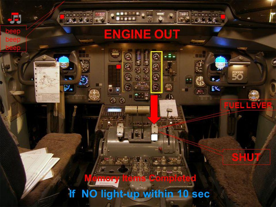 ENGINE ITT HIGH beep POWER LEVER RETARD Memory Items Completed