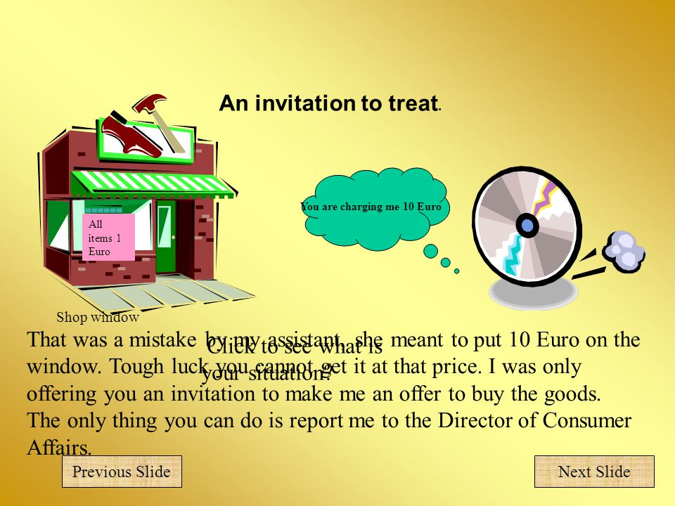 An invitation to treat.