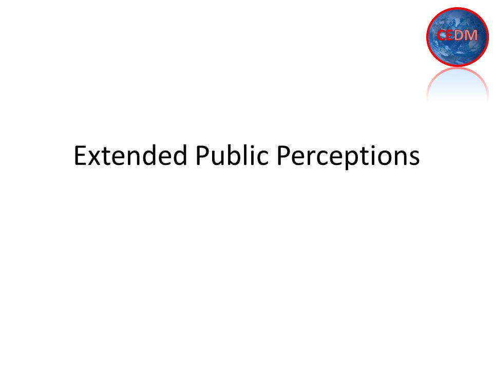 Extended Public Perceptions