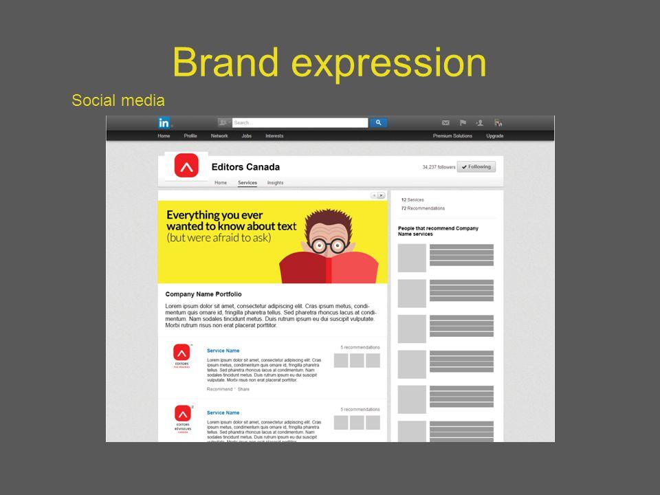 Brand expression Social media