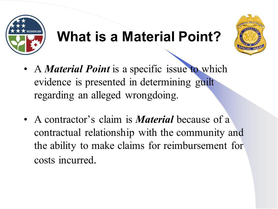 What is a Material Point.