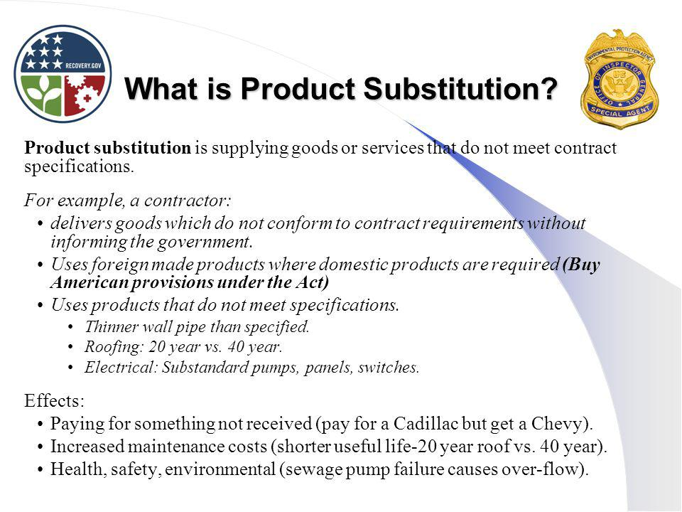What is Product Substitution.