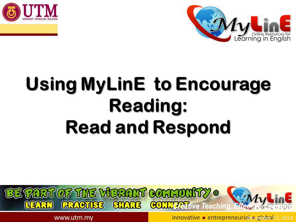 Introduction 1)The following guidelines show how an instructor could use MyLinE to get his/her students to read outside the classroom.