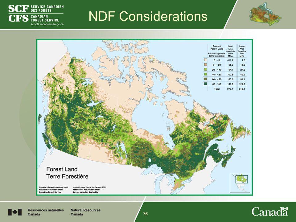 36 NDF Considerations