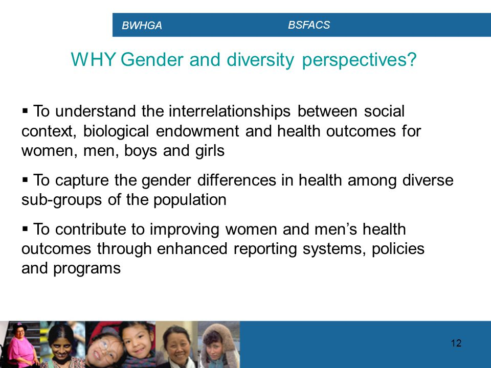 BWHGA BSFACS 12 WHY Gender and diversity perspectives.