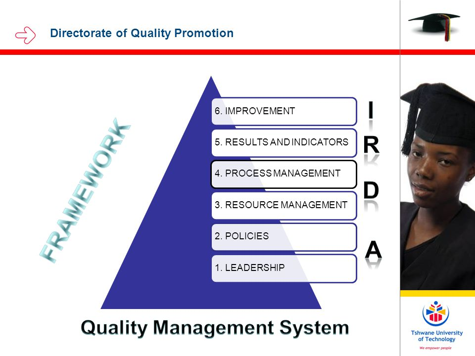 Directorate of Quality Promotion 6. IMPROVEMENT5.