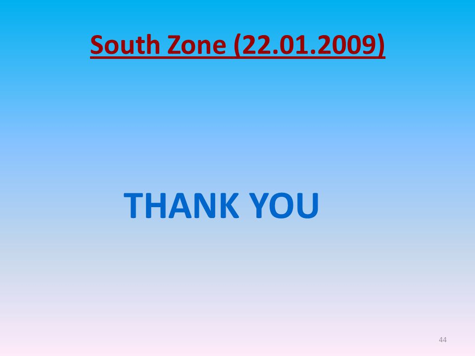 44 South Zone (22.01.2009) THANK YOU