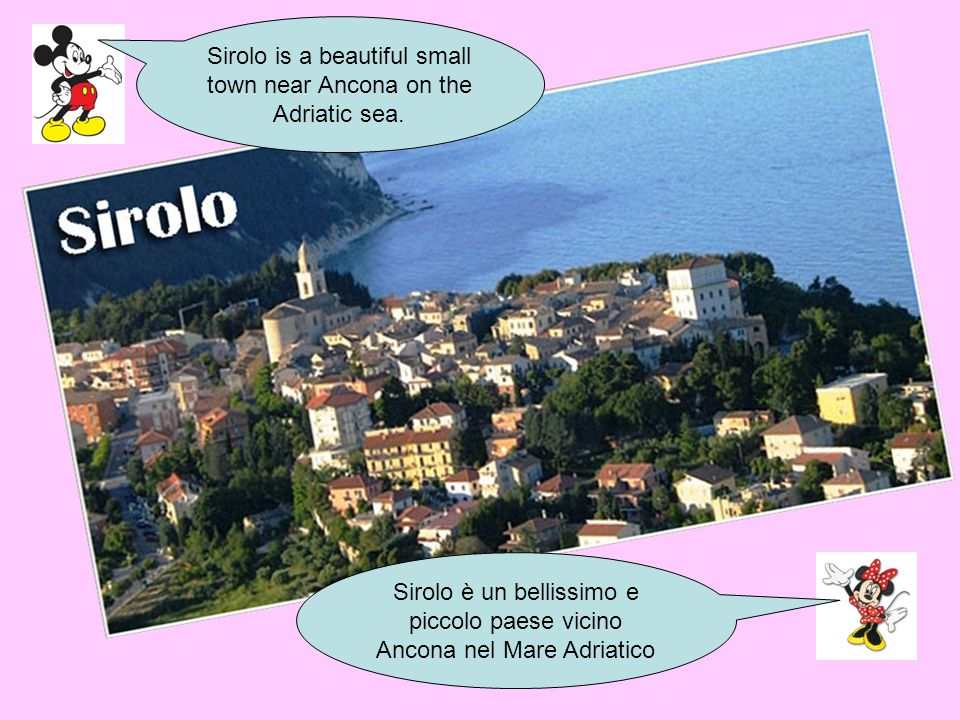 Sirolo is a beautiful small town near Ancona on the Adriatic sea.