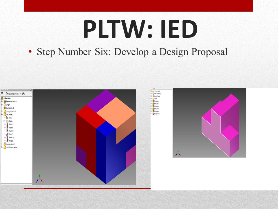PLTW: IED Step Number Six: Develop a Design Proposal