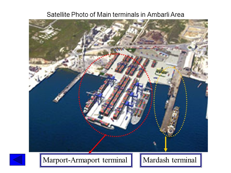 Marport-Armaport terminal Mardash terminal Satellite Photo of Main terminals in Ambarli Area
