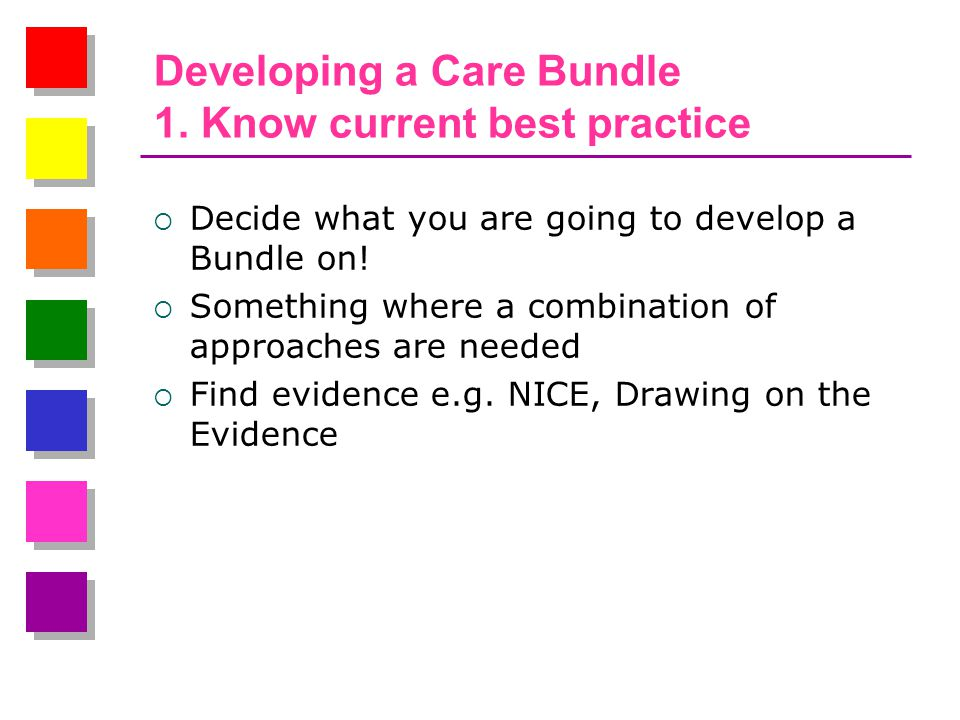 Developing a Care Bundle 1.