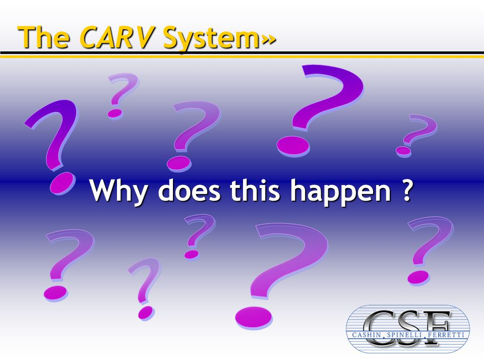 Why does this happen The CARV System»