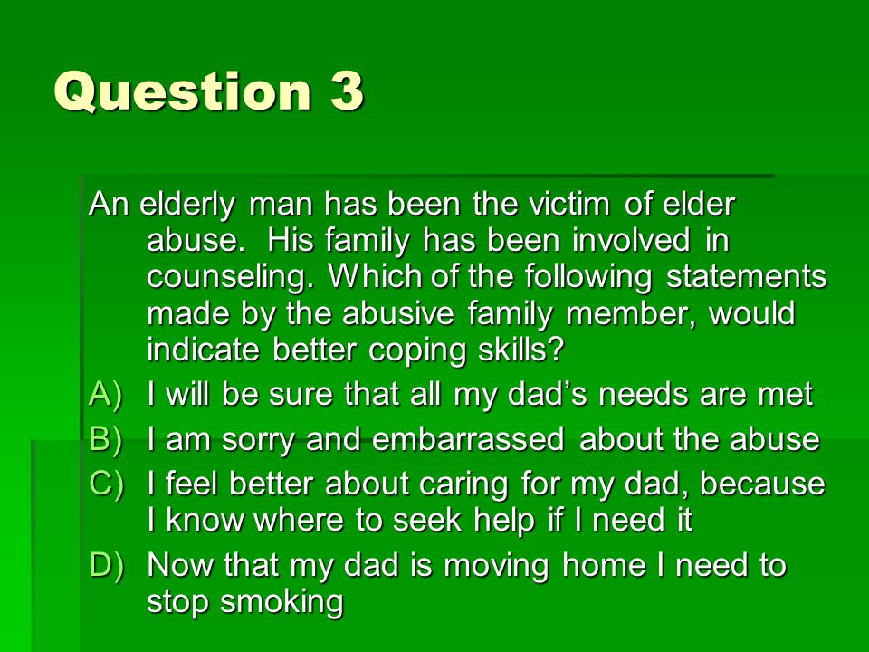 Question 4 A community health RN is caring for a group of homeless people.