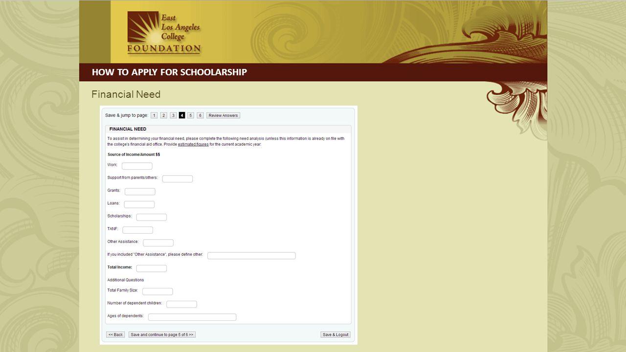 Documentation HOW TO APPLY FOR SCHOOLARSHIP