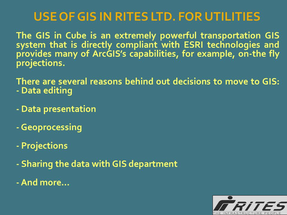 The GIS in Cube is an extremely powerful transportation GIS system that is directly compliant with ESRI technologies and provides many of ArcGIS's cap