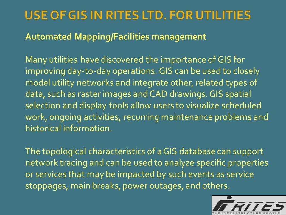 USE OF GIS IN RITES LTD.