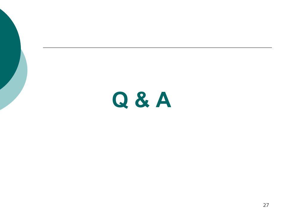 27 Q & A