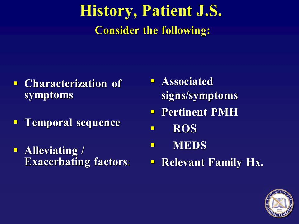 Physical Examination.J.S.