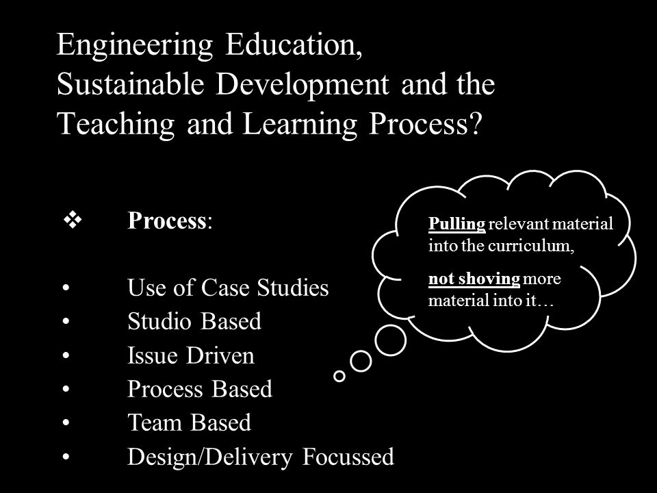 Mainstreaming Sustainable Development into Engineering Education.